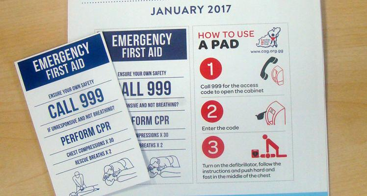 Cardiac Action Group leaflet and Emergency First Aid Card