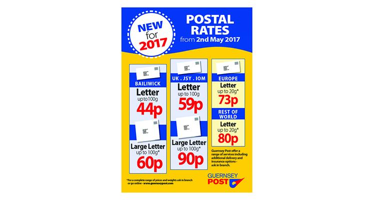 Changes to Postal Tariff from 2nd May 2017