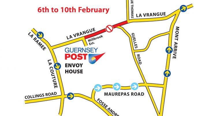 La Vrangue Road Closure 6th to 10th February