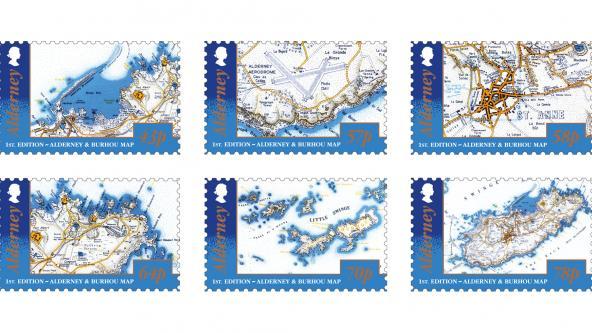 1st Edition Alderney & Burhou Map