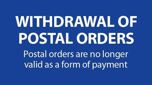 Withdrawal of Postal Orders