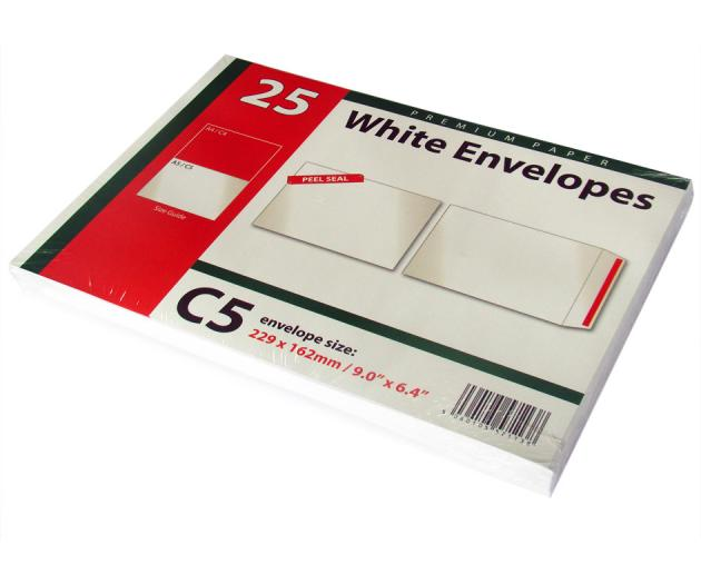 C5 white envelopes
