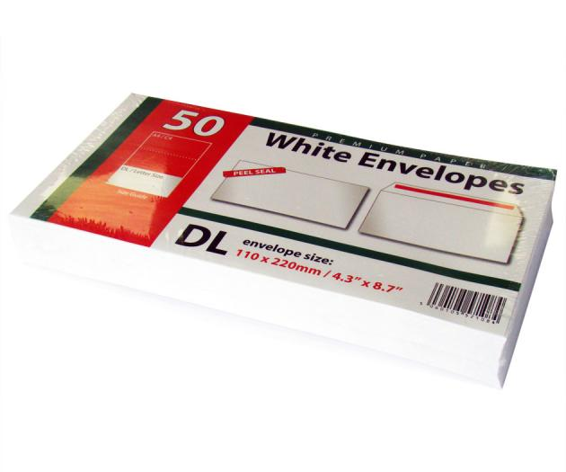 DL white envelopes
