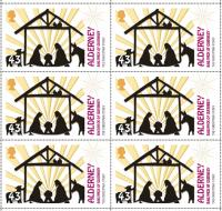 The Christmas Story - Alderney reduced rate 43p stamp sheet of 10