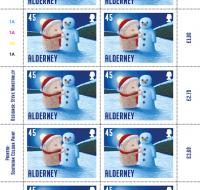 Santa's Visit - Alderney 45p sheet of 10