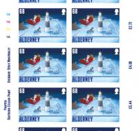 Santa's Visit - Alderney 68p sheet of 10