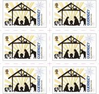 Guernsey reduced rate 43p Christmas stamp sheet of 10