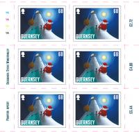 Santa's Visit - Guernsey 68p sheet of 10