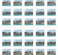 UK Stamp Booklet Coasts x50